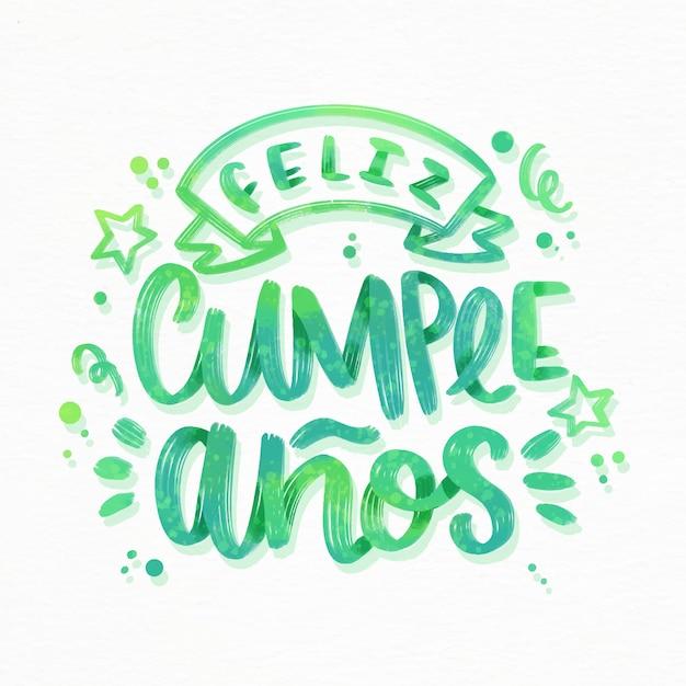 Letras de feliz cumpleaños con cinta y estrellas vector gratuito