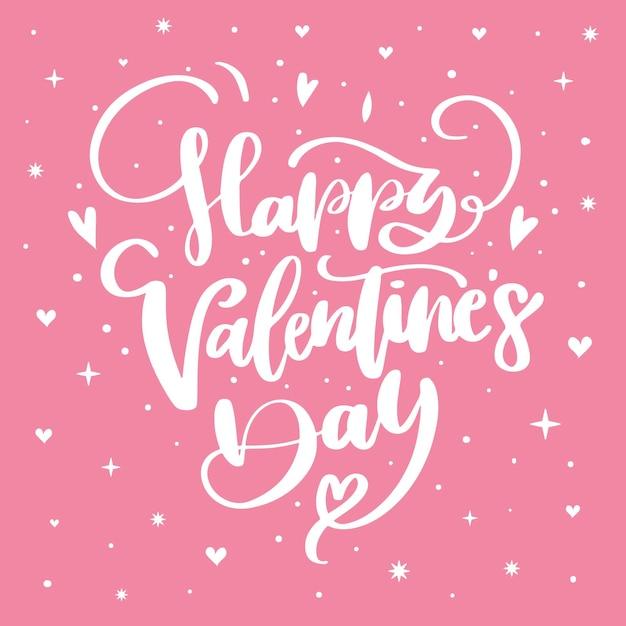 Letras de feliz día de san valentín vector gratuito