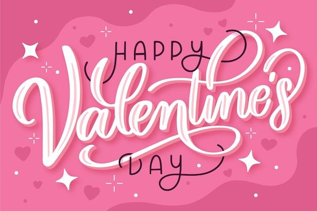Letras de feliz dia de san valentin vector gratuito
