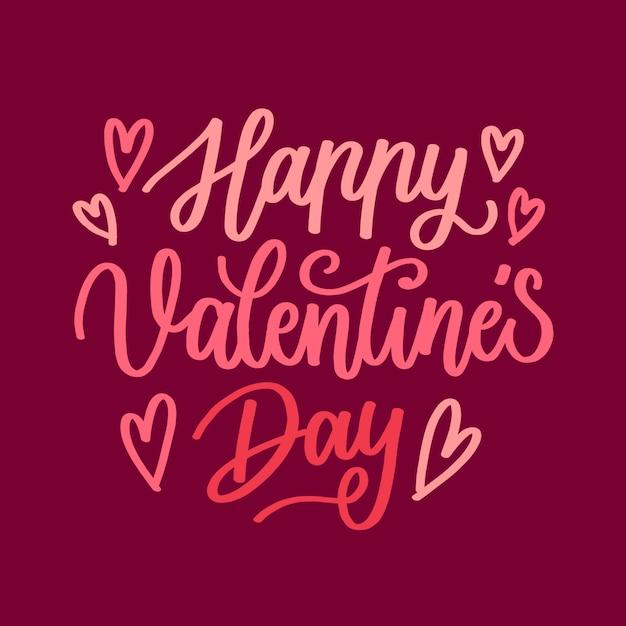 Letras de feliz día de valentiens vector gratuito
