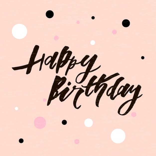 Letras Con Frase Feliz Cumpleaños Tarjeta De Felicitación