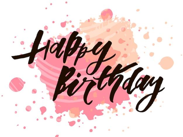 Letras Con Frase Feliz Cumpleaños Vector Premium