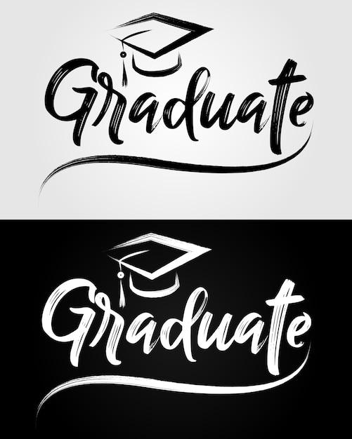 Letras graduadas Vector Premium