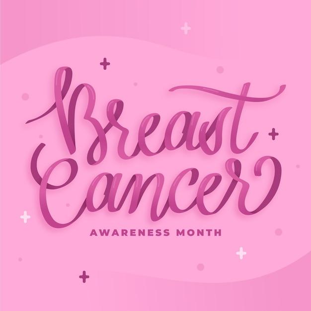 Letras del mes de concientización sobre el cáncer vector gratuito