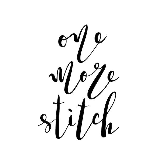 Letras motivacionales para coser y bordar Vector Premium