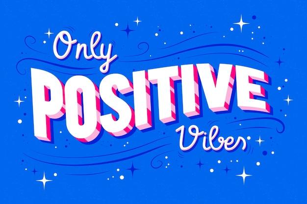 Letras optimistas en estilo vintage. vector gratuito