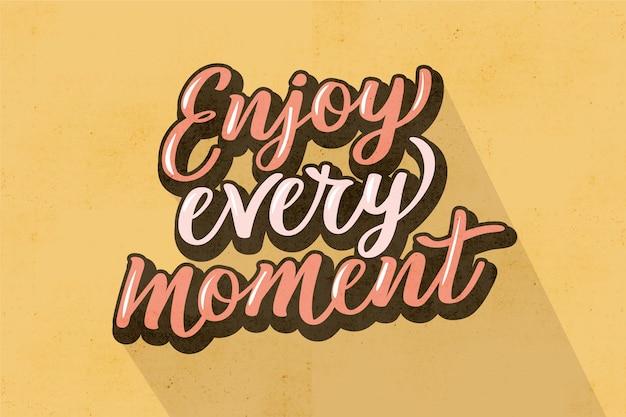 Letras positivas en estilo vintage vector gratuito