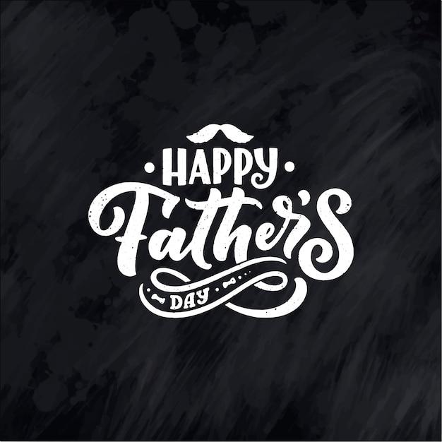Letras para la tarjeta de felicitación del día del padre Vector Premium