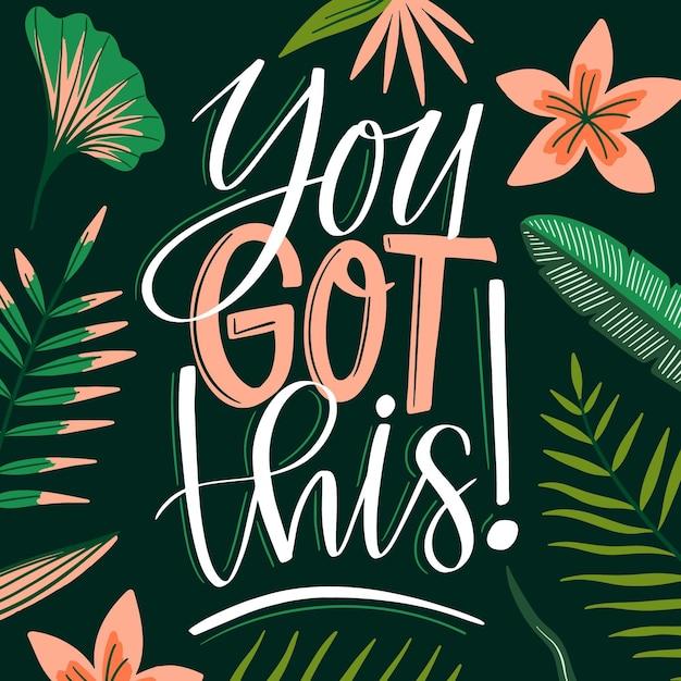 Letras tropicales con hojas o flores. vector gratuito