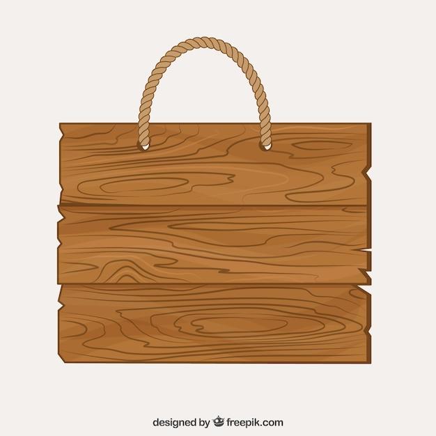 Letrero de madera con una cuerda descargar vectores gratis - Letreros en madera ...