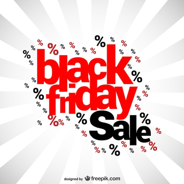 Letrero de rebajas de Black Friday Vector Gratis