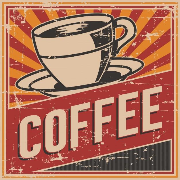 Letrero vintage retro coffee sign | Descargar Vectores Premium