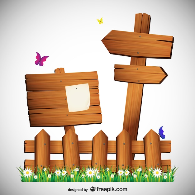 Letreros de madera con mariposas descargar vectores gratis - Letreros en madera ...
