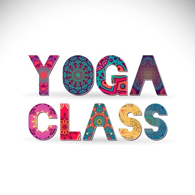 Lettering de clase de yoga estilo de mandala  05068c596787