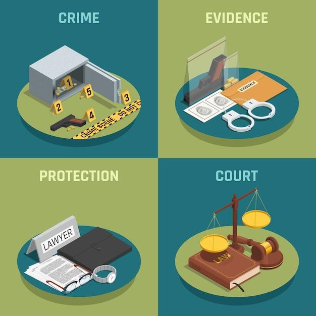 Ley y justicia vector gratuito