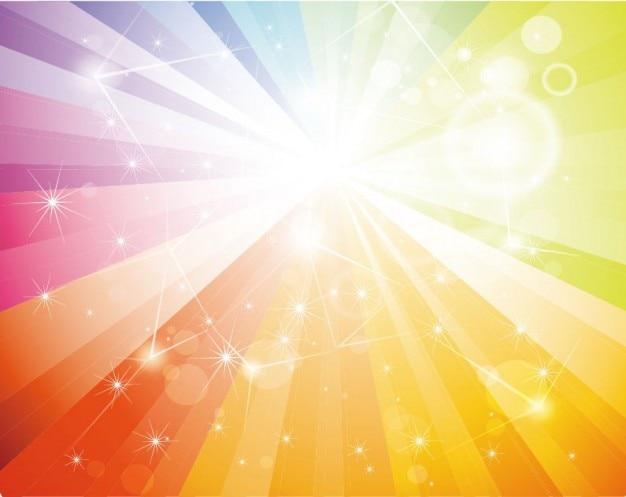 libre de arco iris galaxia de fondo vector Vector Gratis