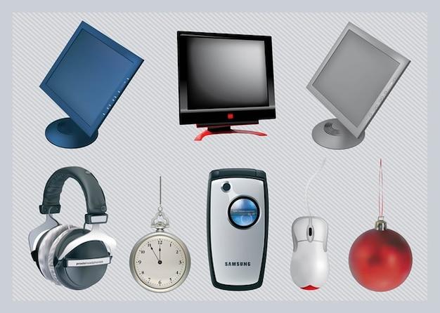 libre de objetos 3D vector tecnología Vector Gratis