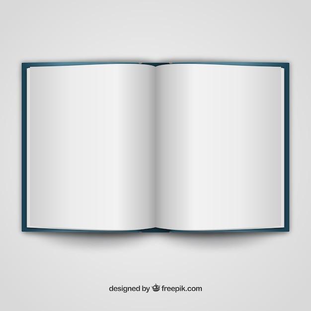 Libro abierto plantilla realista | Descargar Vectores gratis