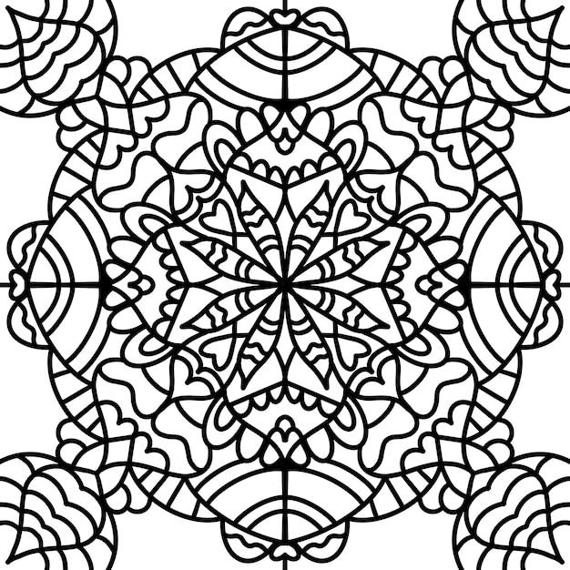 Libro de colorear antiestrés, meditación Vector Premium