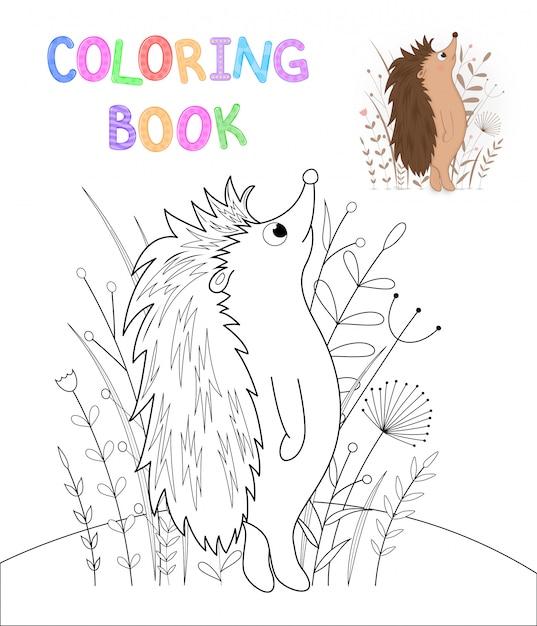 Libro De Colorear De Niños Con Animales De Dibujos Animados Tareas
