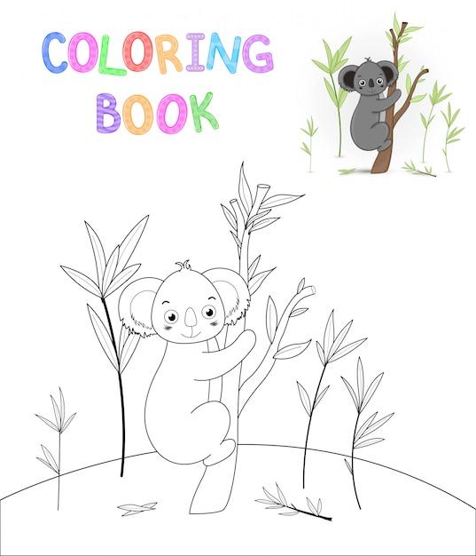 Dibujo De Koala Bebe Para Colorear Koala Bebe Dibujos De