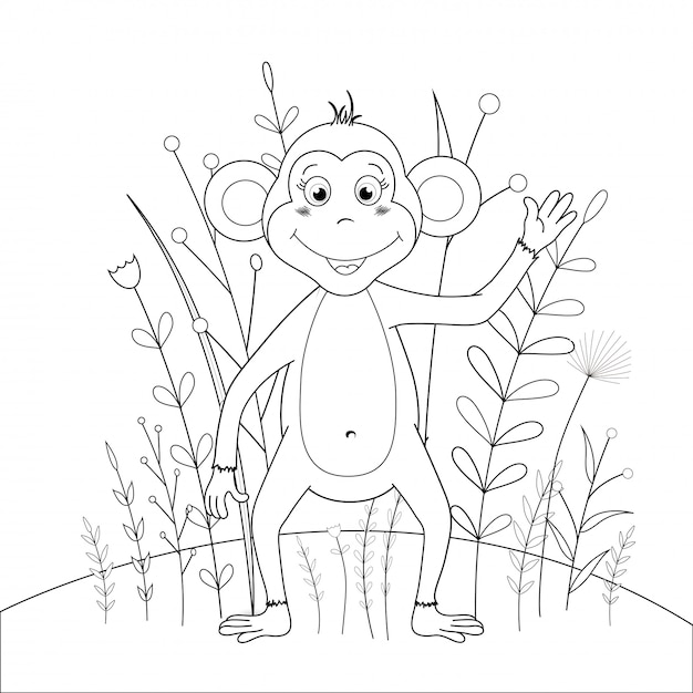 Libro Para Colorear Para Ninos Con Dibujos Animados De Animales