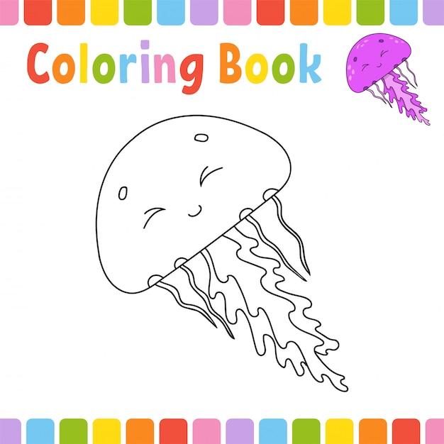 Libro Para Colorear Para Niños Descargar Vectores Premium