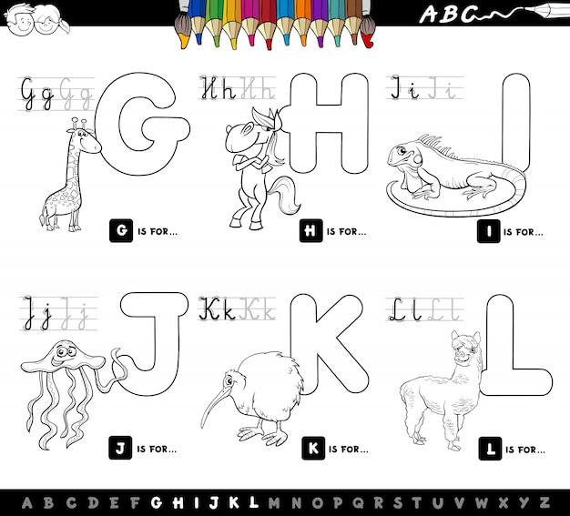 Libro de color educativo alfabeto de dibujos animados para niños ...