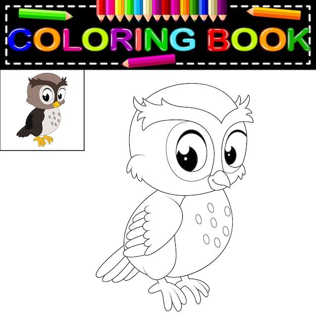 Libro de colorear búho | Descargar Vectores Premium