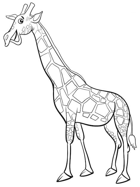 Libro de colorear de dibujos animados de animales de jirafa ...