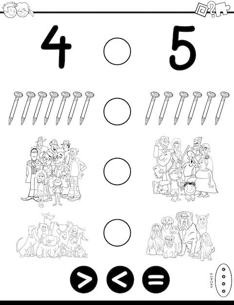 Libro de colorear de mayor o menor juego para colorear | Descargar ...