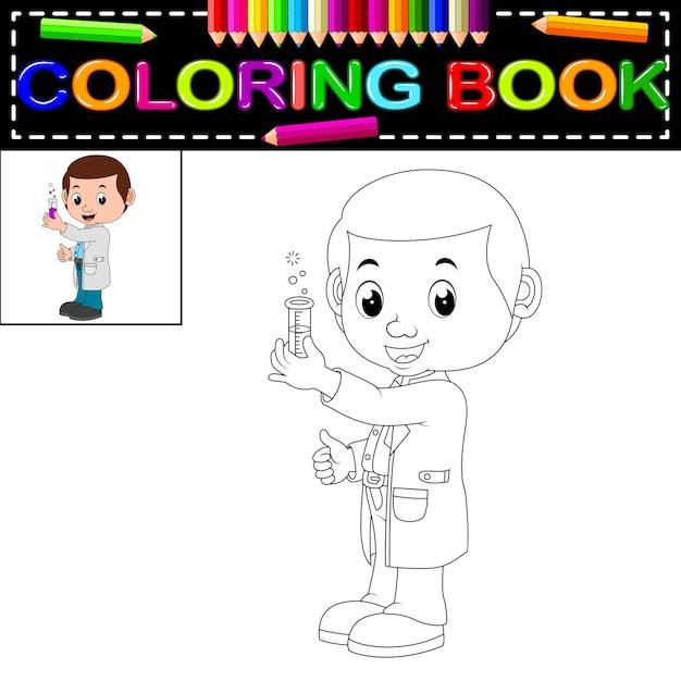 Libro para colorear científico | Descargar Vectores Premium