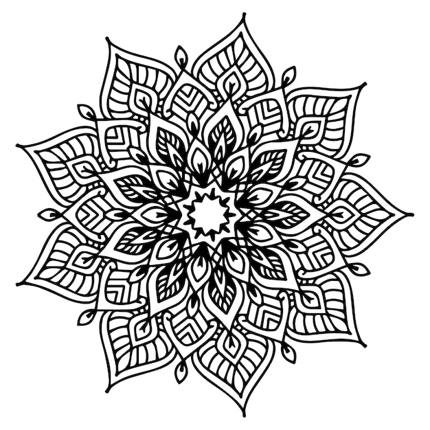 Libro para colorear mandalas, forma de flor, terapia oriental ...