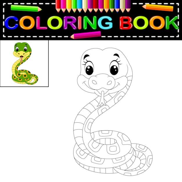 Libro para colorear serpiente | Descargar Vectores Premium