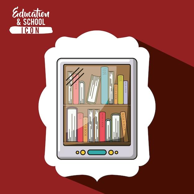 Libro y teléfono inteligente dentro del icono de marco   Descargar ...