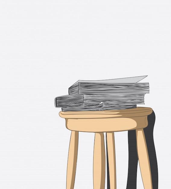 Libros en capas y sillas viejas en la habitación | Descargar ...