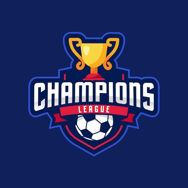 Liga de campeones american logo sport Vector Premium