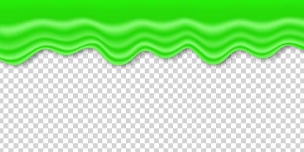 Limo verde realista para decoración de plantillas y revestimiento en el fondo transparente. concepto de feliz halloween. Vector Premium