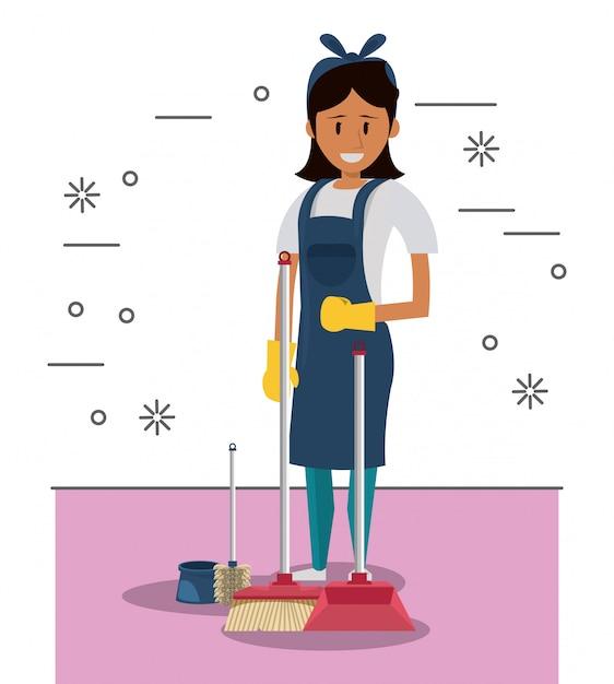 Limpiador con productos de limpieza servicio de limpieza - Limpiador de errores gratis ...
