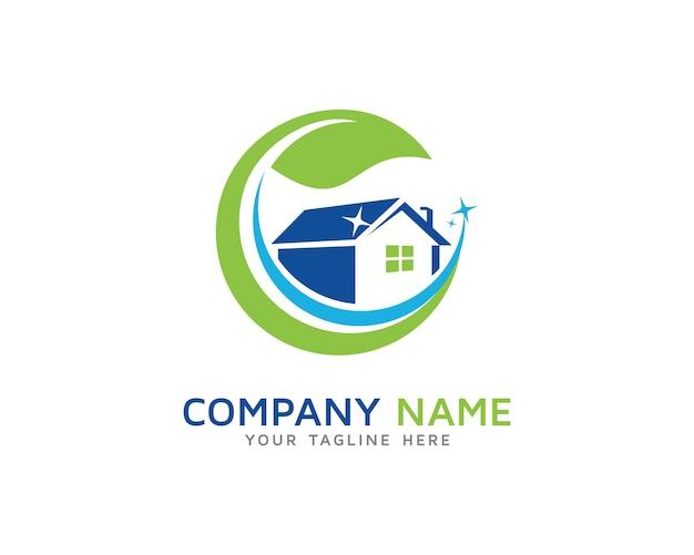 Limpieza de casas dise o de logotipos descargar vectores premium - Servicio de limpieza para casas ...