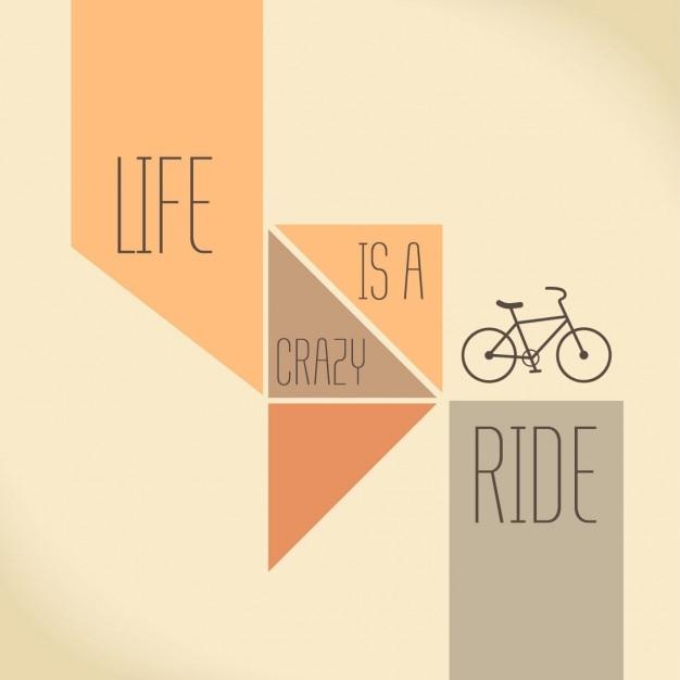 Linda cita con una bicicleta Vector Gratis