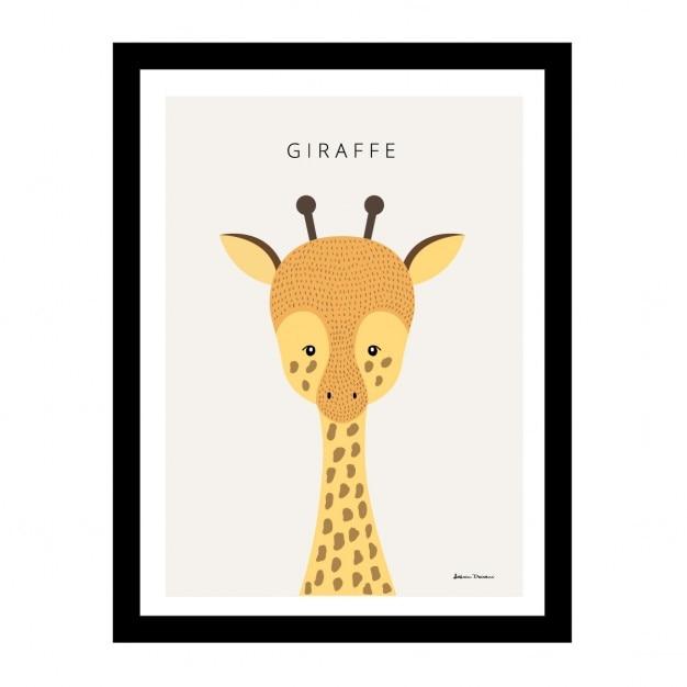 Linda jirafa en un marco negro | Descargar Vectores gratis