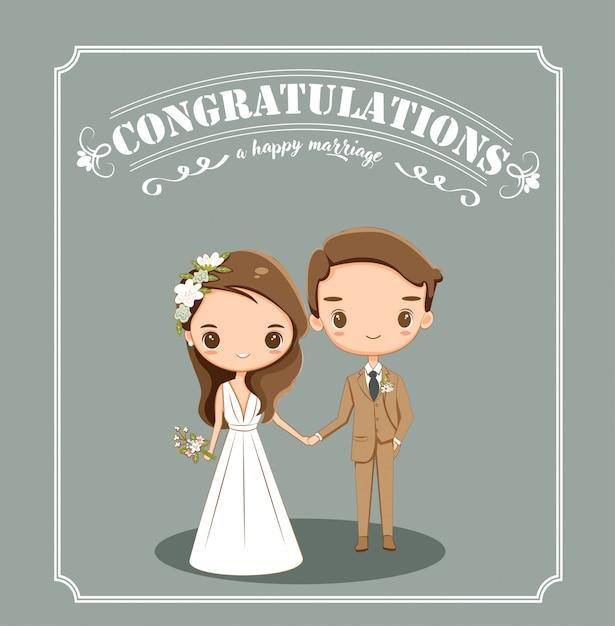 d806ac561 Linda novia y el novio para invitaciones de boda tarjeta | Descargar ...