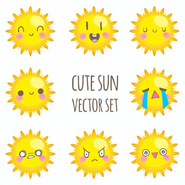 Linda puesta de sol Vector Premium