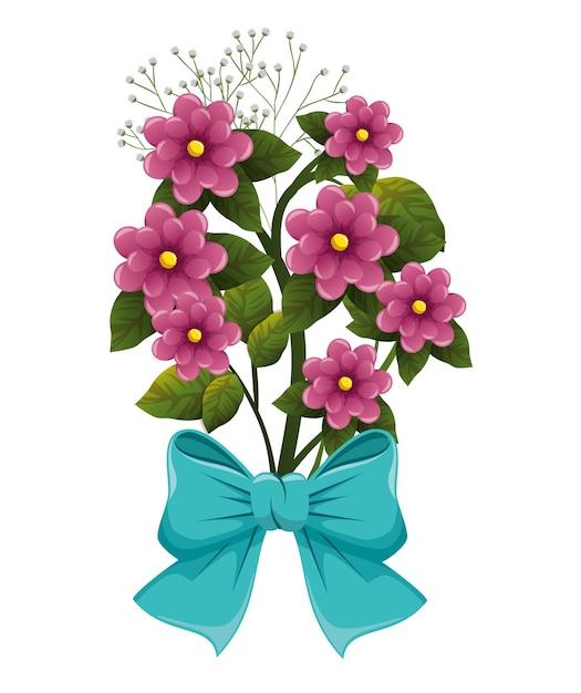Lindas Flores Con Lazo Descargar Vectores Premium