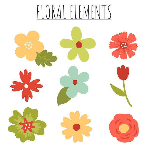 Lindas flores Vector Premium