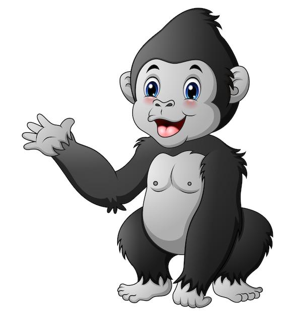 Lindo bebé gorila | Descargar Vectores Premium