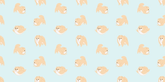 Lindo bebé perro animal de patrones sin fisuras Vector Premium