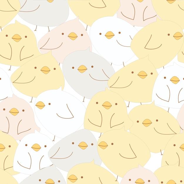 Lindo bebé pollito de patrones sin fisuras | Descargar Vectores Premium