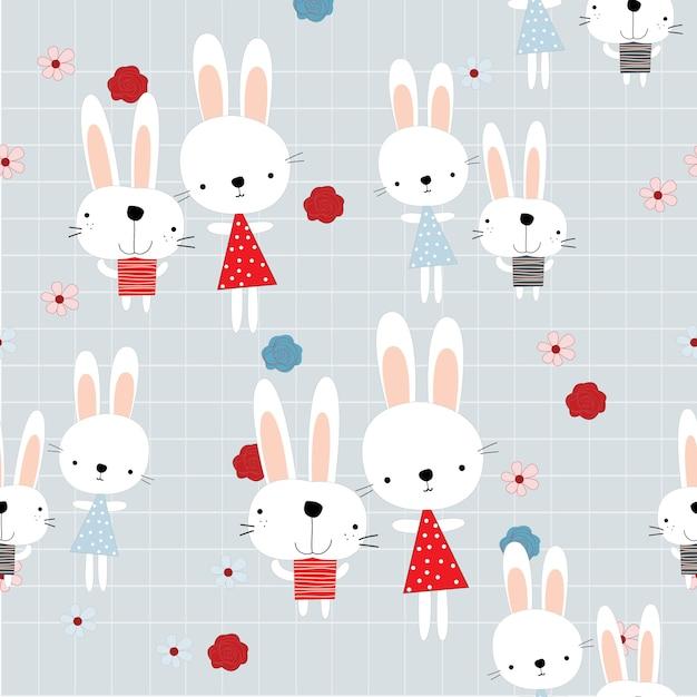 Lindo conejo conejito amigo en el jardín de verano   Descargar ...